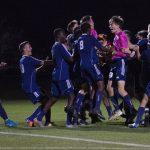 East Lansing High School Boys Varsity Soccer beat Williamston: CAAC Gold Cup Rd#1 2-1