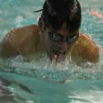 Trenton High School Boys Varsity Swimming beat Grizzlies 75-42