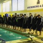 Trenton High School Boys Varsity Swimming beat Pirates 97-86