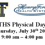 THS Sports Physical Day Tomorrow July 30th!!  Middle School and High School