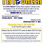 High School Cheer Tryouts!!