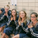 THS Girls Swim Past AP on Parents' Night   13Sep16