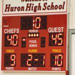 Trenton High School Girls Varsity Basketball beat Huron High School 45-40