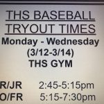 THS Baseball Tryouts