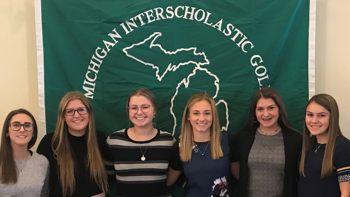 Girls Golf earn All State All Academic Awards
