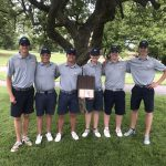 The Boys Golf Team takes the Downriver League Title