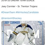 "Joey Cormier Named to Michigan High School Hockey's ""Dream Team"""