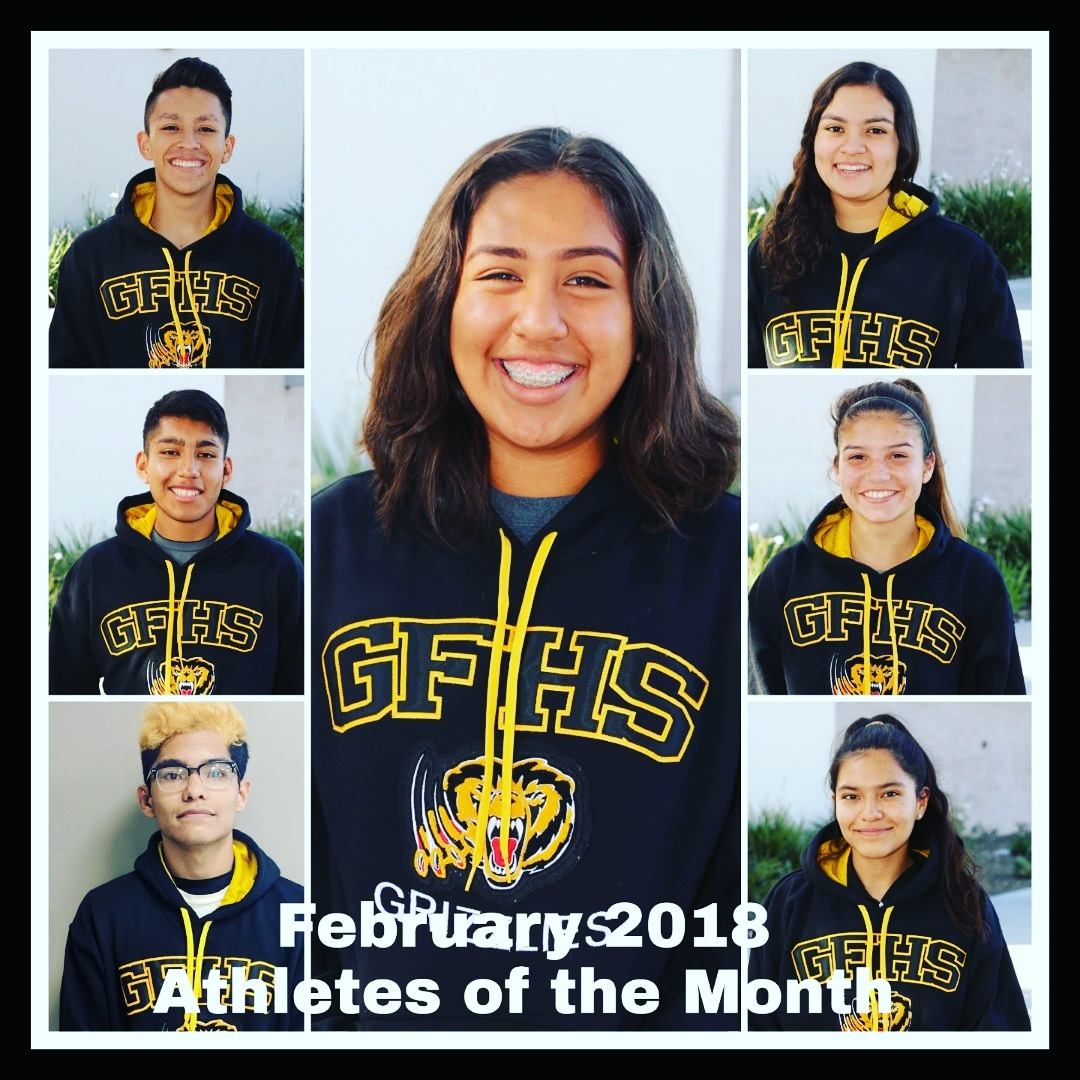 Godinez Celebrates February 2018 Athletes of the Month!