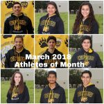 Congrats to Griz March 2018 Athletes of Month!
