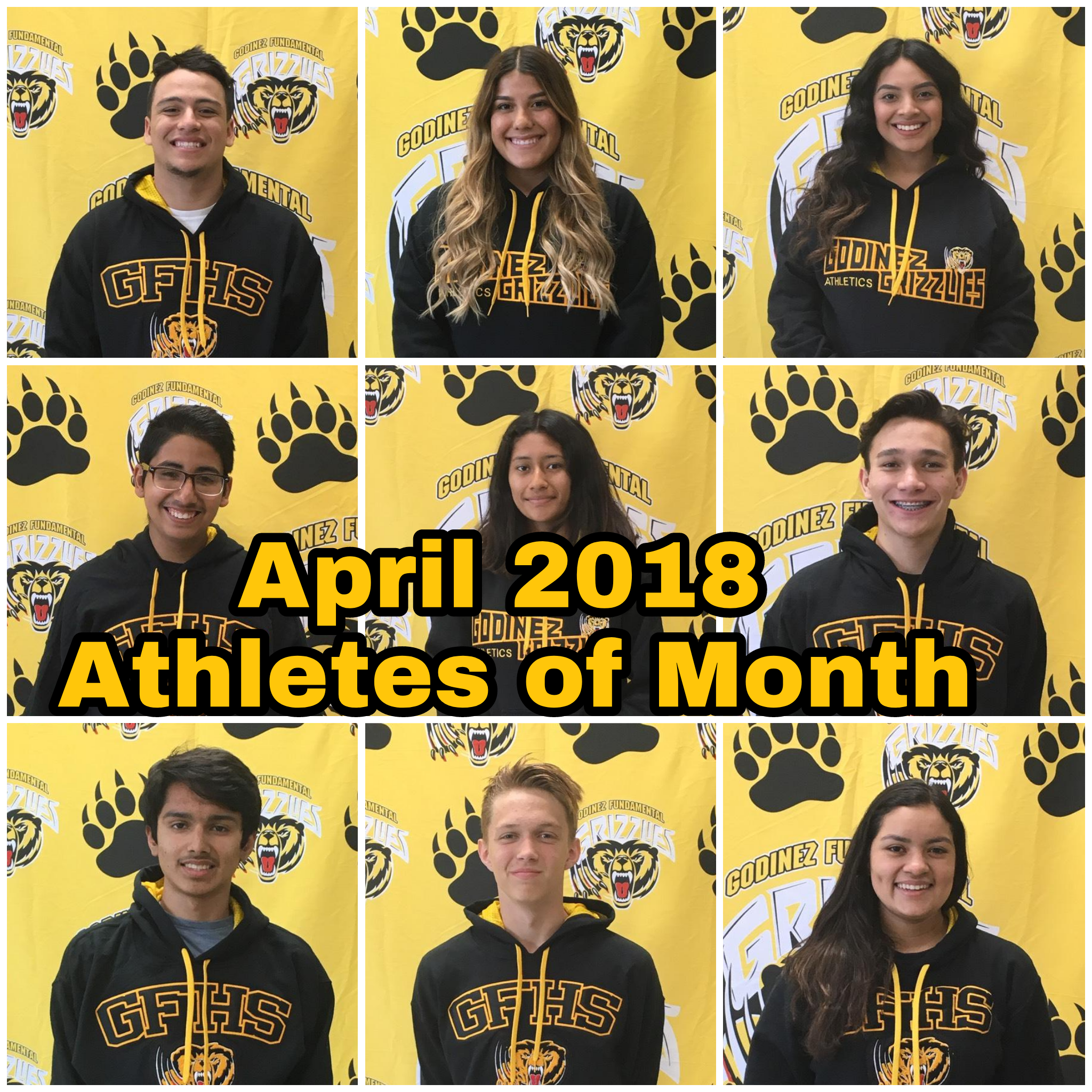 April 2018 – Athletes of the Month