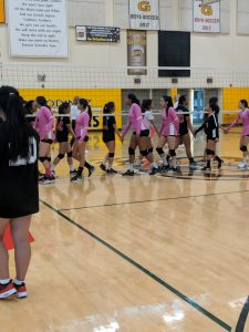 Girls Volleyball vs Westminster 9/27/18 photos by V. Espericueta