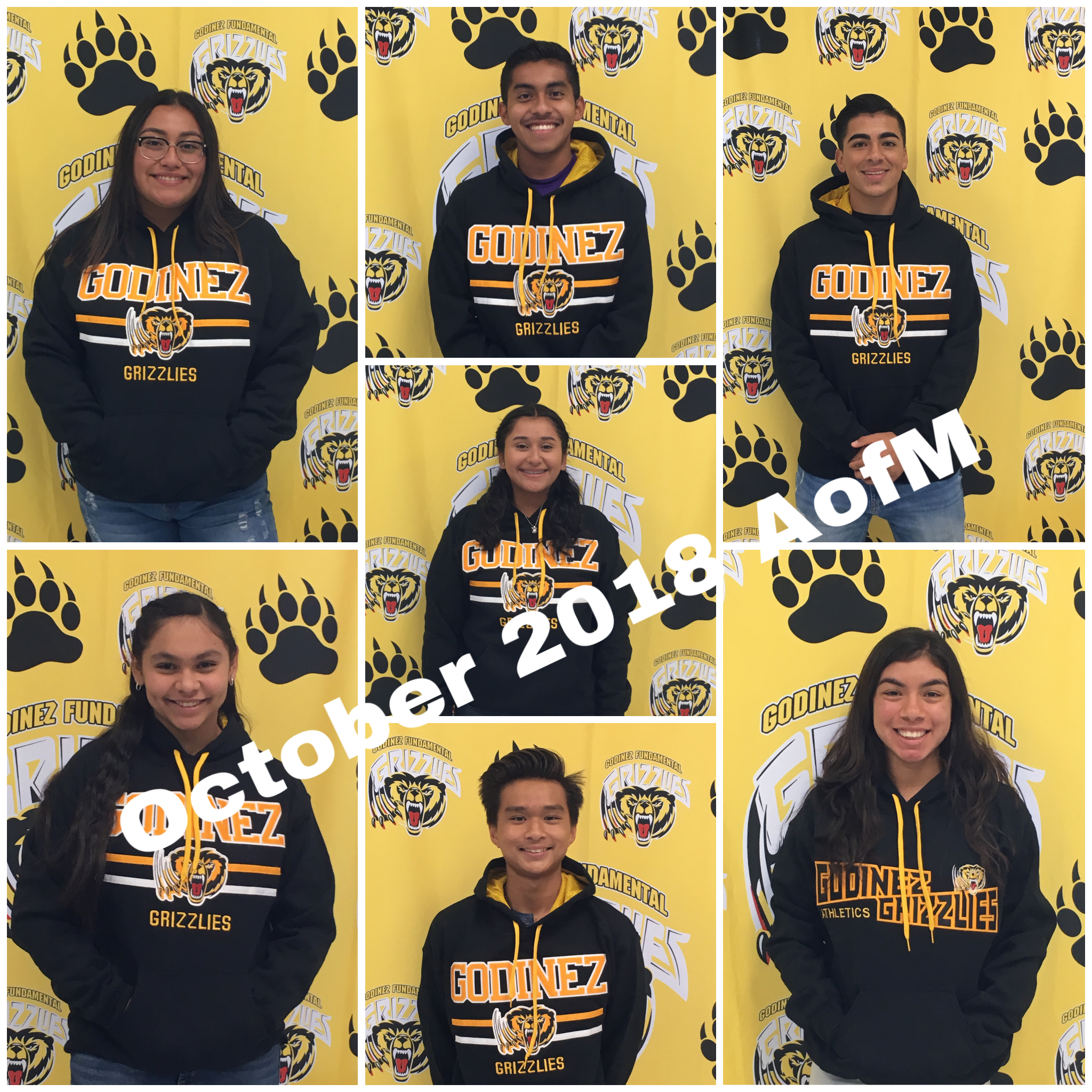 October 2018 Athletes of the Month