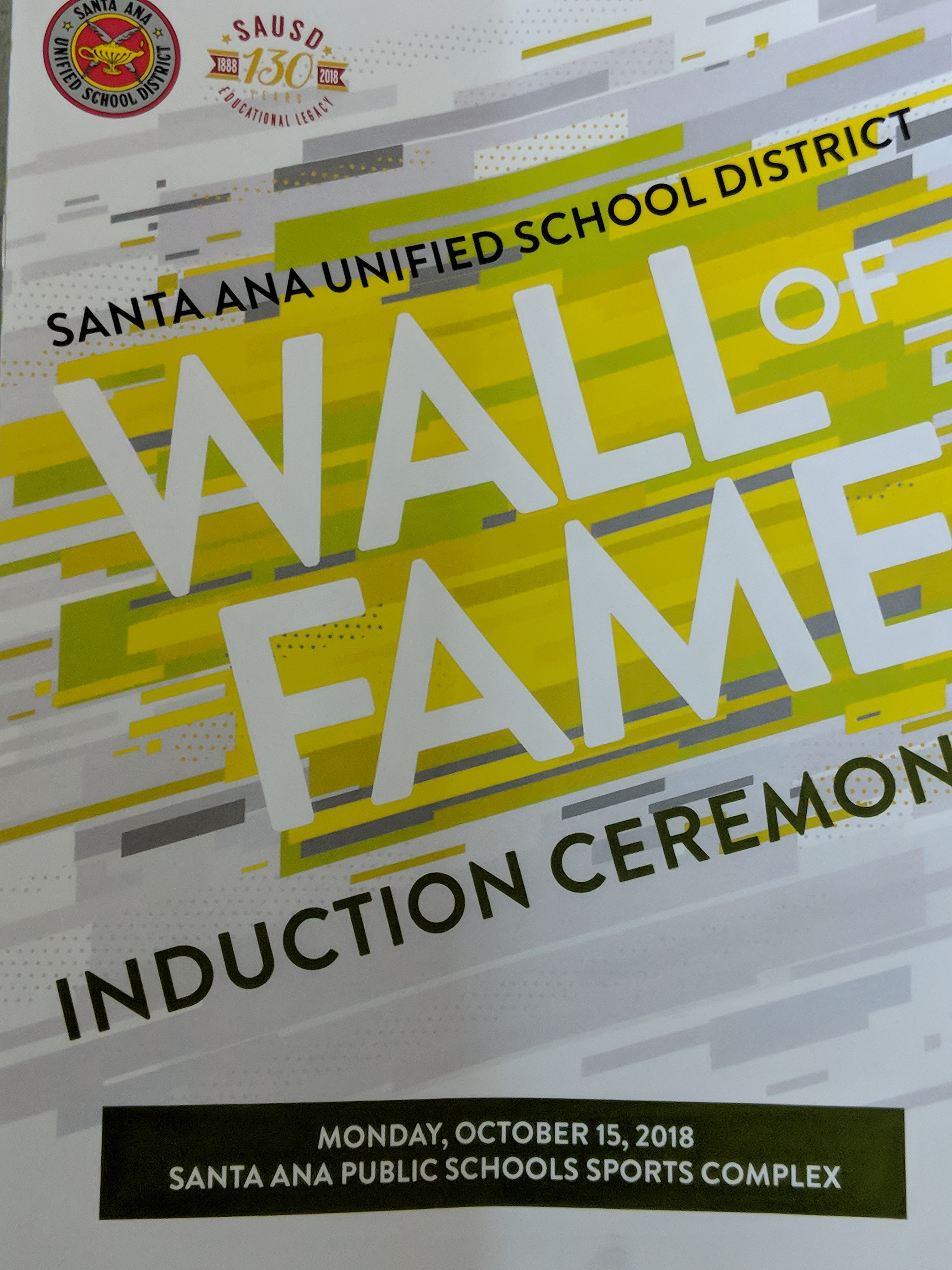 SAUSD 2018 Wall of Fame Induction Ceremony
