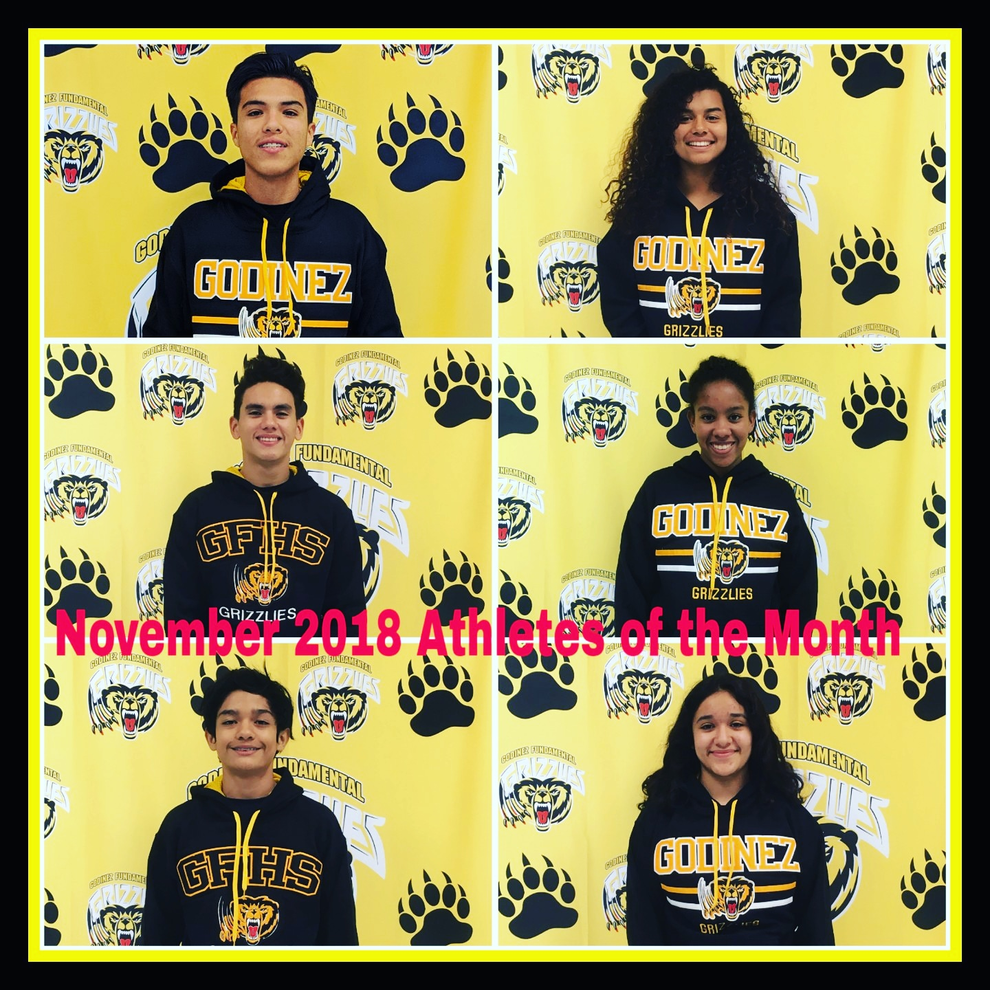 November 2018 Athletes of the Month