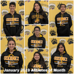 Godinez Celebrates January 2019 Athletes of the Month