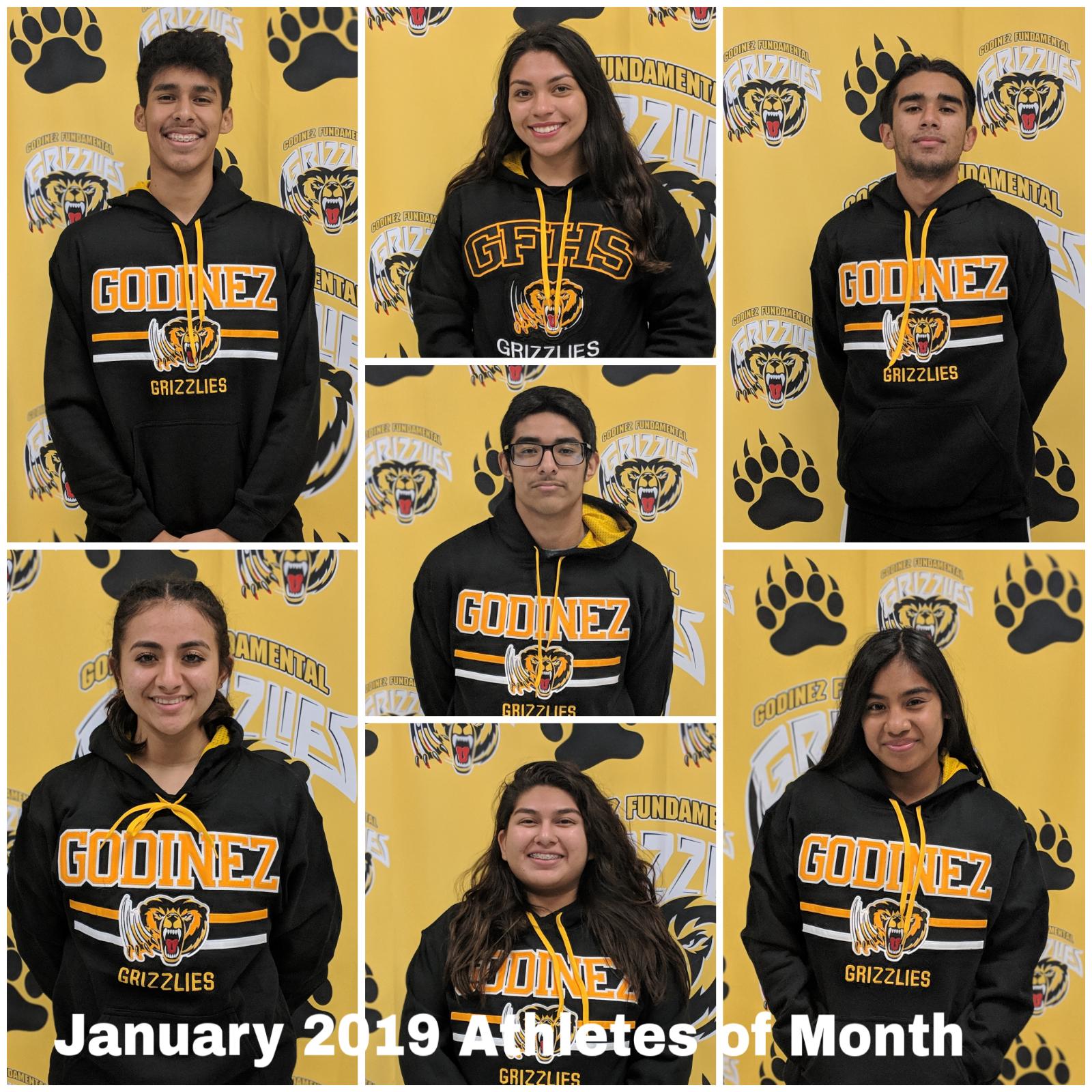 Godinez Celebrates January 2019 Athletes of the Month