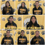 March 2019 Athletes of the Month
