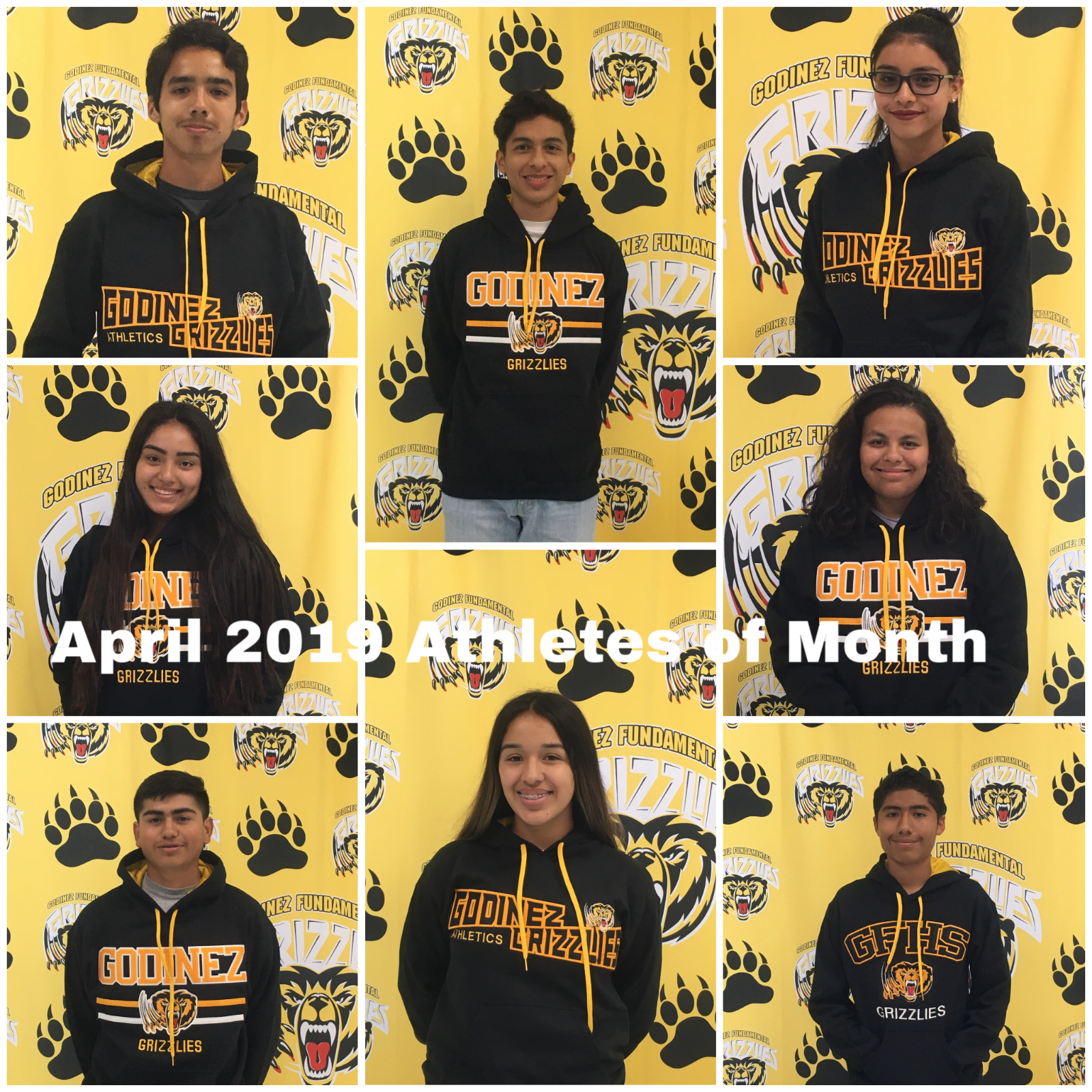 April 2019 Athletes of the Month!