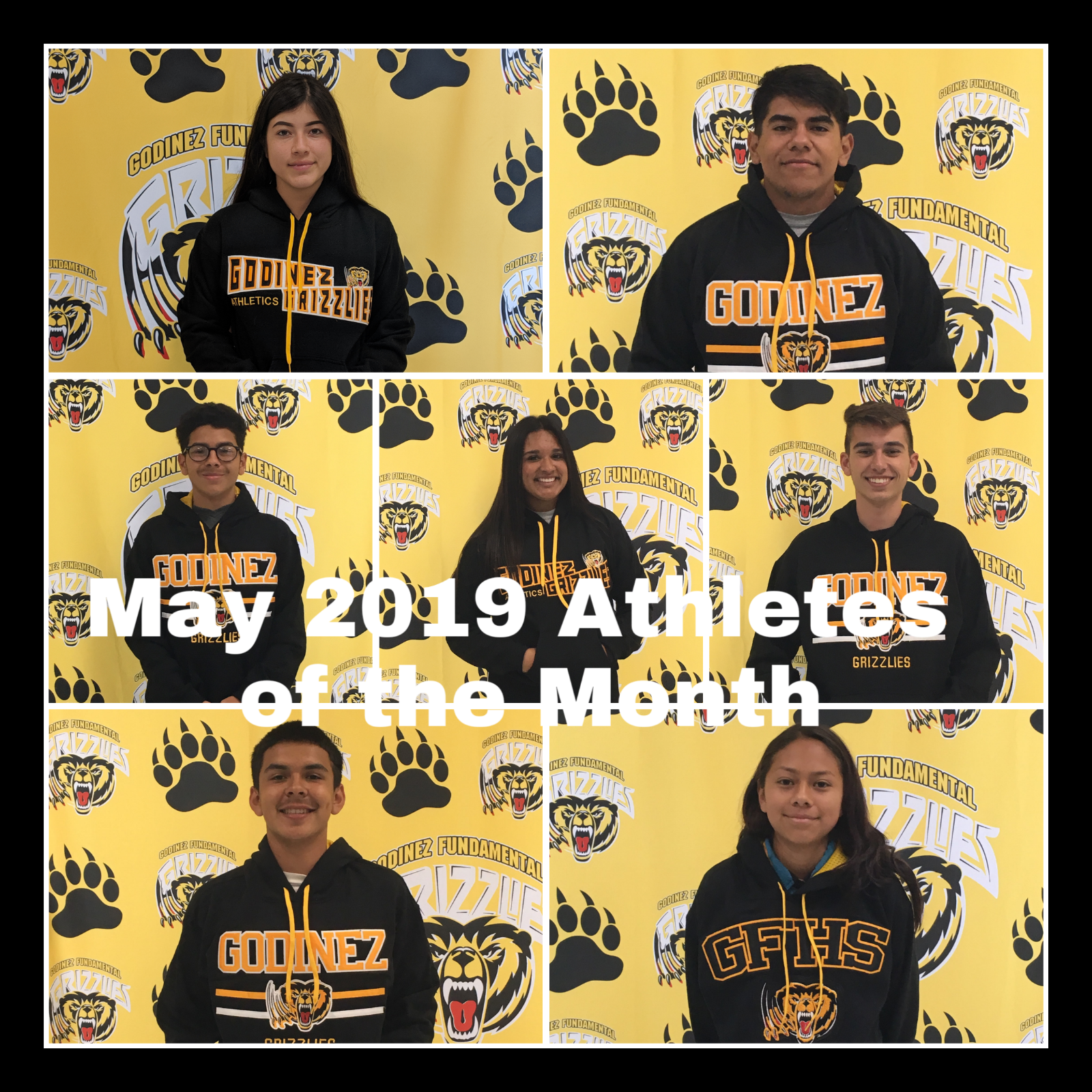 Congrats to Our May 2019 Athletes of the Month!