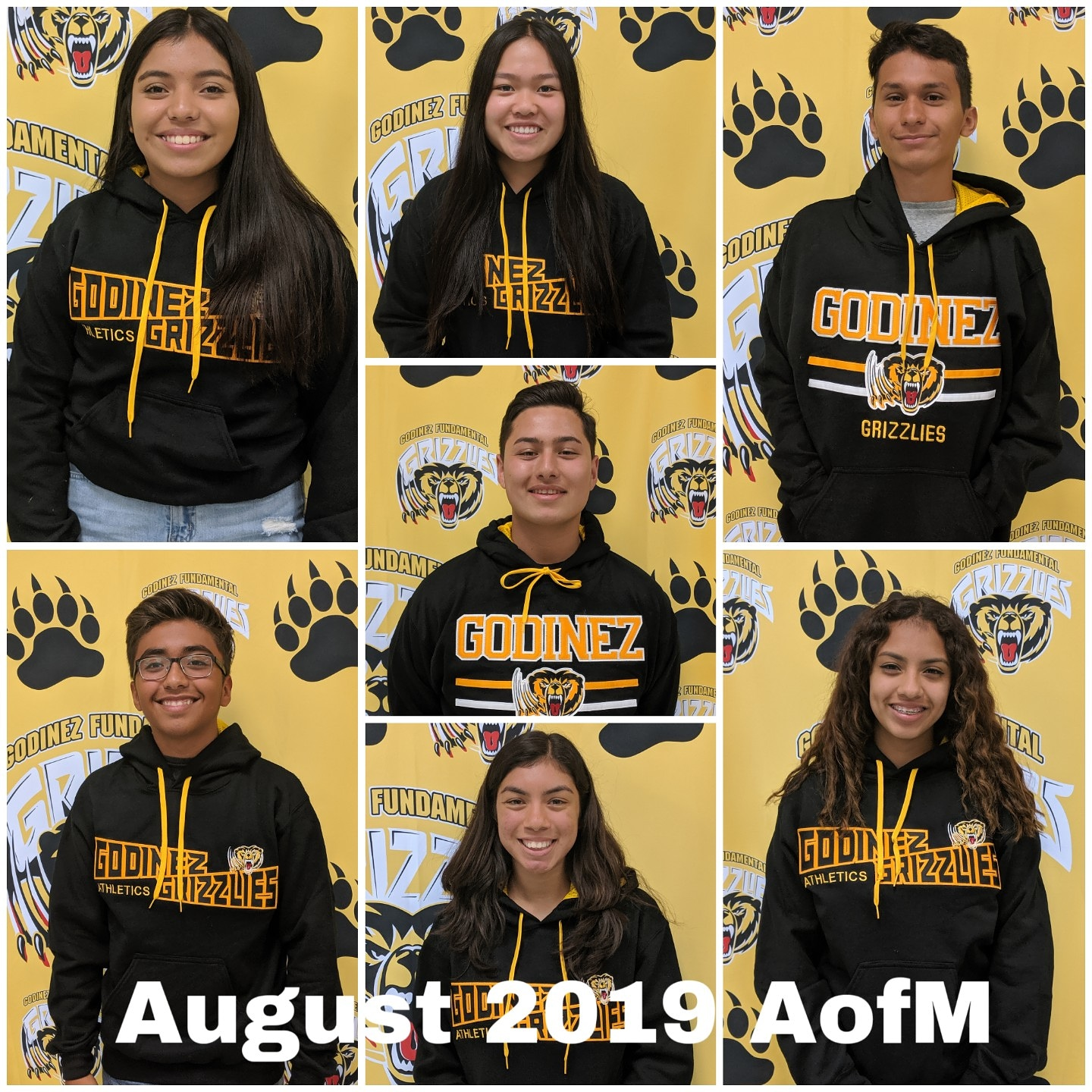 CONGRATS  to our August 2019 – Athletes of the Month!
