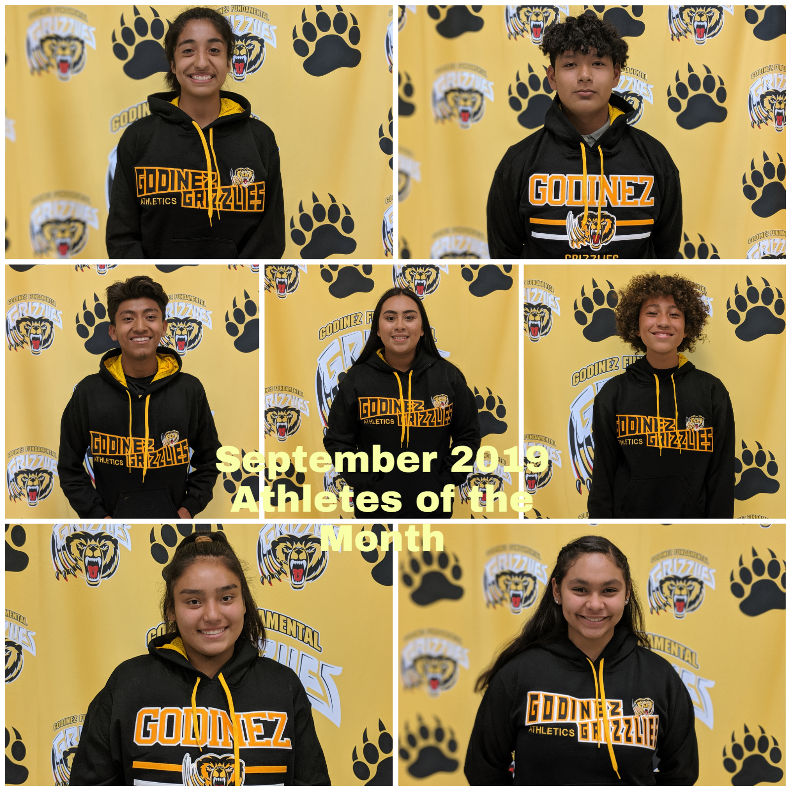 September 2019 Athletes of the Month