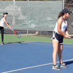 JV Girls Tennis Team Takes the Saints!