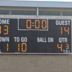 Boys Frosh/Soph Football beats Rancho Alamitos 33 – 14