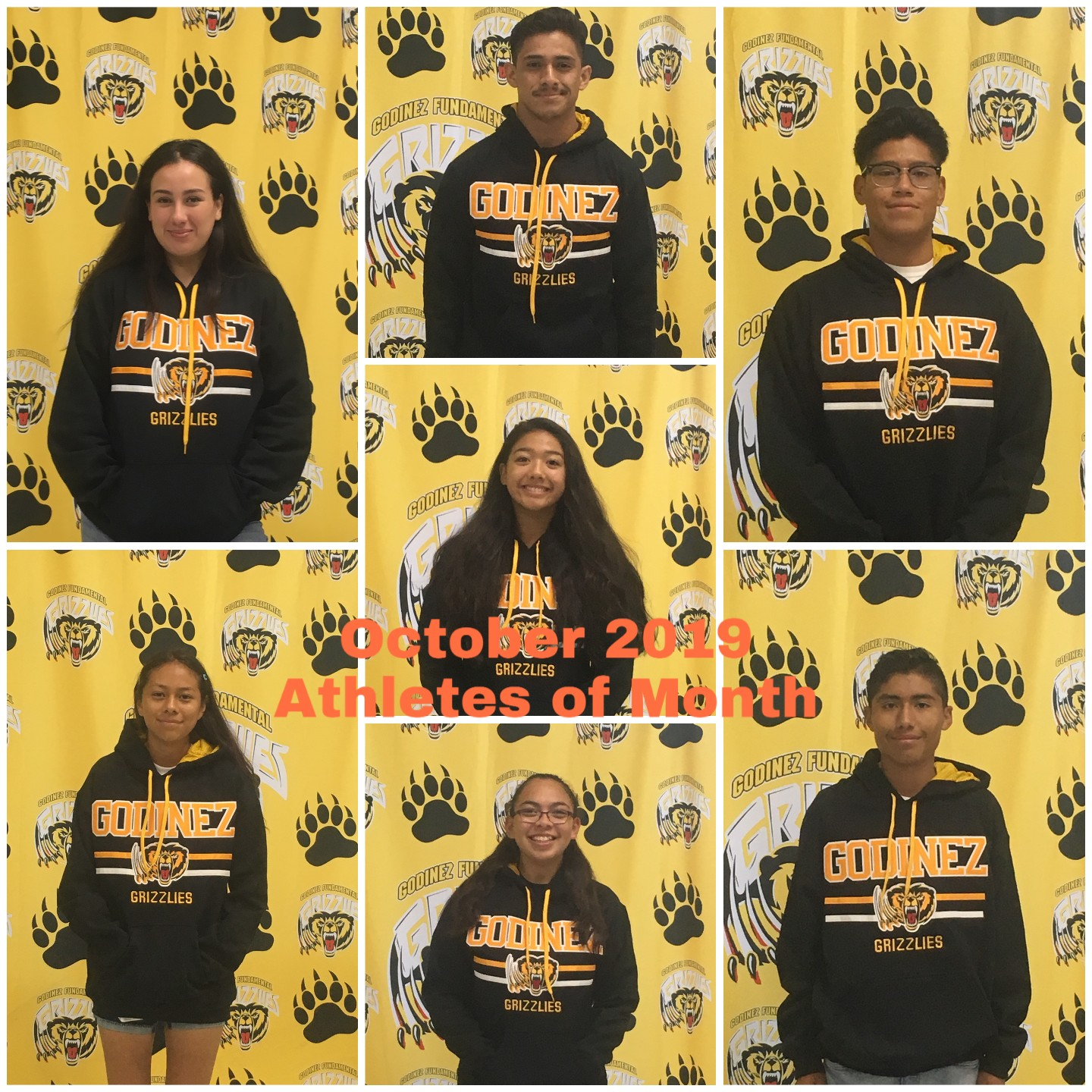 October 2019 Athletes of Month