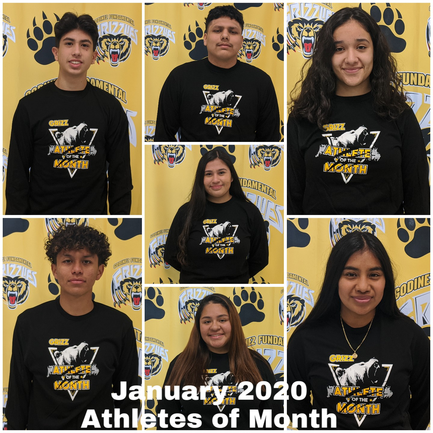 CONGRATULATIONS to Griz January 2020  -Athletes of the Month!