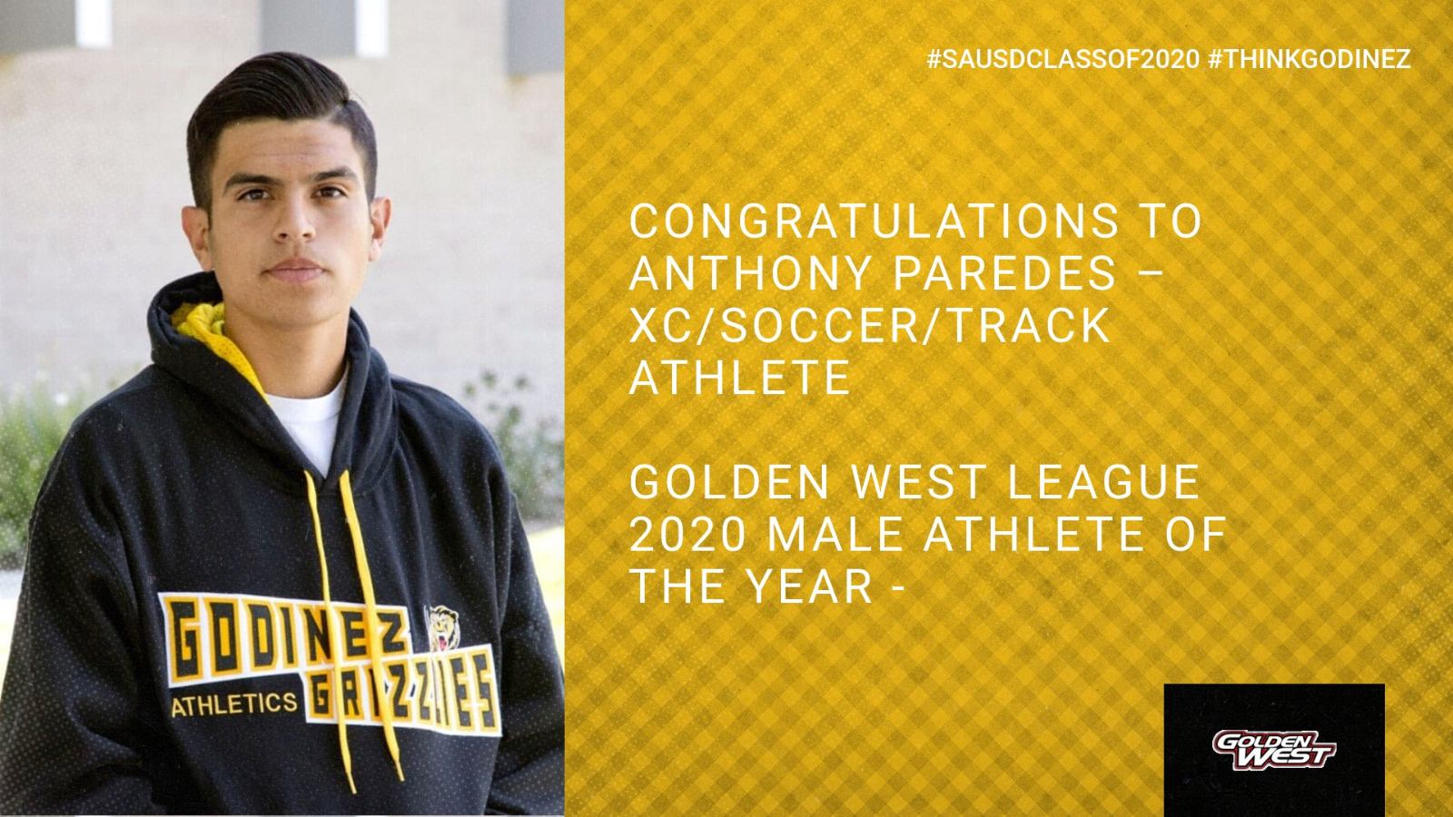 Anthony Paredes – Godinez & Golden West League 2020 Male Athlete of the Year