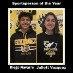 2020 Sportsman/Sportswoman of Year – Diego Navarro & Juliett Vazquez