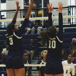 Randolph School Girls Varsity Volleyball beat Haleyville High School 2-0