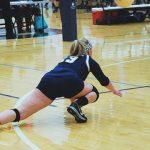 Randolph School Girls Varsity Volleyball falls to Danville High School 2-0