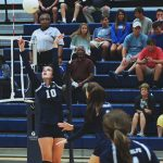 Randolph School Girls Varsity Volleyball falls to Muscle Shoals High School 2-0