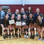 Randolph Varsity Volleyball beat Madison County High School 3-1- Advance to Regionals