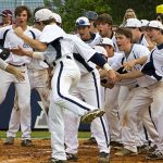 Randolph School Varsity Baseball beat Haleyville High School 3-2