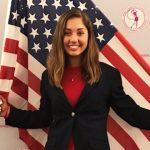 Raider Michaela Morard '20 representing the USA