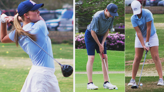 Randolph Varsity Boys and Girls Golf Teams get the DUB