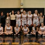 Girls Varsity Basketball beats Lutheran High School Westland to win District Championship