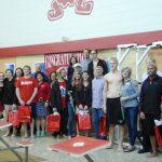 Raiders Swimming/Diving beat Boardman on Senior Night