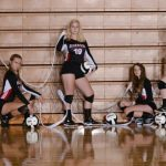 Edgewood High School Girls Varsity Volleyball beat Linton 3-1