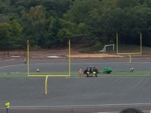 Turf Goes Down, Building Goes Up!