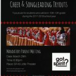 Cheer and Songleading Tryout Information