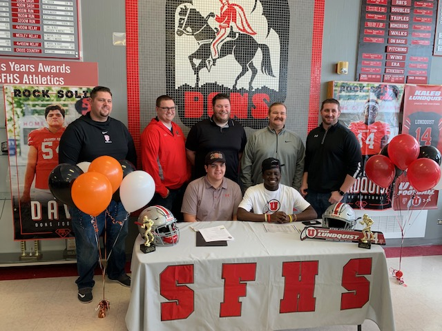 Sam Dawe and Kaleb Lundquist sign to play college football
