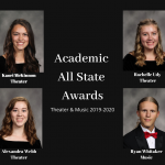 Academic All State Award Recipients – Theater  & Music 2020