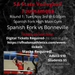 Spanish Fork Volleyball to open State Tournament at home on Tuesday.