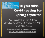 Community Covid Testing for those who missed the school test for Tryouts