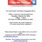 New and Gently Used Sports Equipment Drive