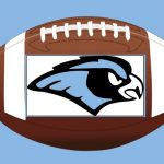 Football with Hawk Logo