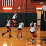 JV Volleyball Team in Action